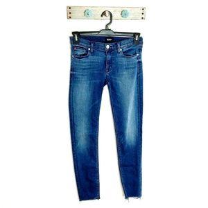 Hudson Jeans 27 Krista Ankle Skinny Raw Hem Medium